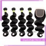 Cheap 4+1 Group Brazilian Hair Bundles with Closure