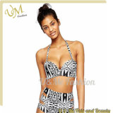 Tankini Breast Bandeau Triped Printing Swimsuits for Women