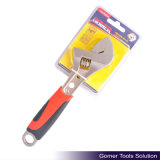 TPR Handle Carbon Steel Spanner Adjustable Wrench (T01373)