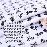 Black Skull Patterns 250GSM Cotton Canvas Fabric
