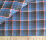 Blue/Red/Black Checks 125GSM 100% Cotton Yarn Dyed Fabric