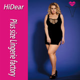 Plus Size Lingerie Sexy Black Clubwear with G String for Ladies