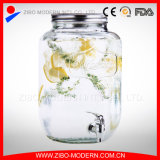 2gallon Clear Glass Beverage Dispenser with Tap