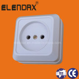 European Style Surface Mounted 2 Pin Wall Socket (S1009)