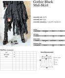Sexy Women Gothic Black Irregular Skirt From Punk Rave (Q-079)