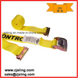 "2"" X 12′ Yellow E-Track Tie Down Straps - Cam Buckle"