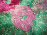 Print Silk Viscose Burnt out Fabric