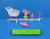 "New Cheap 3""Doll Baby Toy with Shopping Car (879714)"