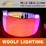 Commercial Plastic Modern Restaurant LED Coffee Bar Table