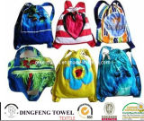 100% Cotton Beach Backpack Towel Bag