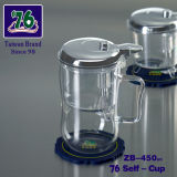 Chinese Clear Glass/ High Borosilicate Tea Set with 450ml Tea Cup