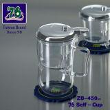Chinese Clear Glass/ High Borosilicate Tea Set with 450ml Tea Cup