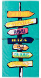 100% Cotton Promotional Custom Beach Towel