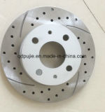 40206-37p02 Silver Painted Cross Drilled Slotted Rotor