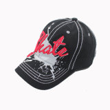 Embroidery Baseball Cap with Print on Front (GKA01-F00008)