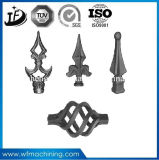Customized Wrought Iron Metal Gate Ornament Fence Parts with Painting