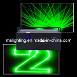 2W Green Animatio Laser Show / Disco Laser Light