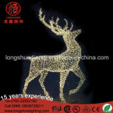 LED Christmas 3D Deer Motif String Decoration Light