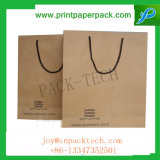 Recycle Eco Friendly Fashion Carrier Customized Kraft Paper Bag with Long Handle