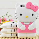 3D Cute Cartoon Soft Silicon Hellokitty Mobile Phone Case for iPhone Samsung