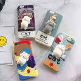 Cute 3D Squeeze Sleeping Panda Lazy Cat Cell Phone Case for iPhone 7