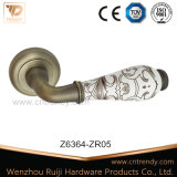 Zinc Alloy Door Handle with Ceramic Lever Handle (z6024-zr05)