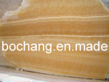 Natural Yellow Vein Honey Onyx for Tile Slab