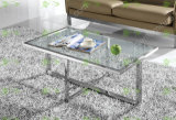 (SJ-123) Home Furniture Modern Tempered Glass Coffee Table