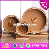 New Products Three Sizes Funny Small Animals Creeping Toy Wooden Pet Running Wheel W06f031