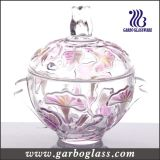 Decorative Glass Sugar Pot with Color
