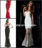 Evening Dress See Through White Red Black Prom Dress E139134