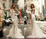New Arrival 2017 Mermaid Full Lace Sleeve Wedding Dress