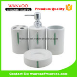 Cylindrical China Ceramic Bathroom Accessories Manufacturres with Dimonds Decoration