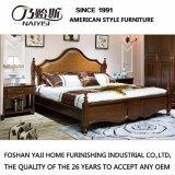 American Style Wau Beech Solid Wood Bed for Bedroom Use (AS819)