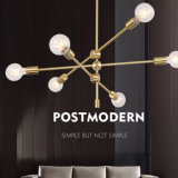 Postmodern Style Indoor Bronze/Brass/Black Metal Hanging Pendant Lamp Lights for Dining Room