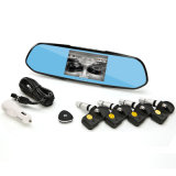 HD 170 Deg Super Wide Angle Car Camera Tyre Monitor with Built-in Tire Sensor