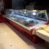Commercial Fresh Meat Display Cooler Cabinet for Supermarket Equipment