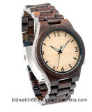 Custom Men′s Wood Watch Wristwatch Wood Grain Face