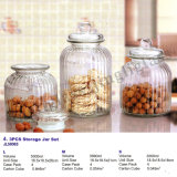Wholesale New Design Glass Storage Jar Canister/Glass Storage Container with Lids