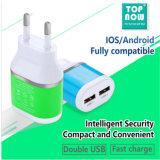 Newest Us//EU Travel Charger with 2 USB Output 2100mA
