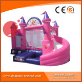 Princess Inflatable Jumping Castle with Slide Combo Toy Playground (T3-710)