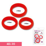 Pure Silicone Cock Ring in 3 Size as Adult Toys with Cheaper Price