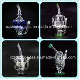 Shining Handblown Borosilicate Recycler Glass Smoking Water Pipe Hookah