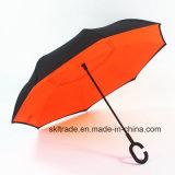 Pure Colors Portable Handsfree Straight Reverse Inverted Umbrella