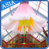 Newest Wedding Stage Hanging Inflatable Flower with LED Light