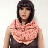 Lady Fashion Acrylic Knitted Loop Scarf