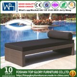 Rattan Beach Furniture Waterproof Fabric and Aluminun Tube Outdoor Lounger (TG-JW11)