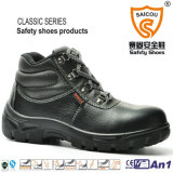 Stylish Genuine Leather Men Safety Boots with Steel Toe Cap and Steel Plate