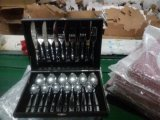 24PCS Stainless Steel Cutlery Set with Wooden Box