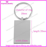 High Polished Rectangle Engravable Blank Stainless Steel Key Chain